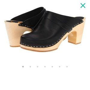 Swedish Hasbeens Black Clogs